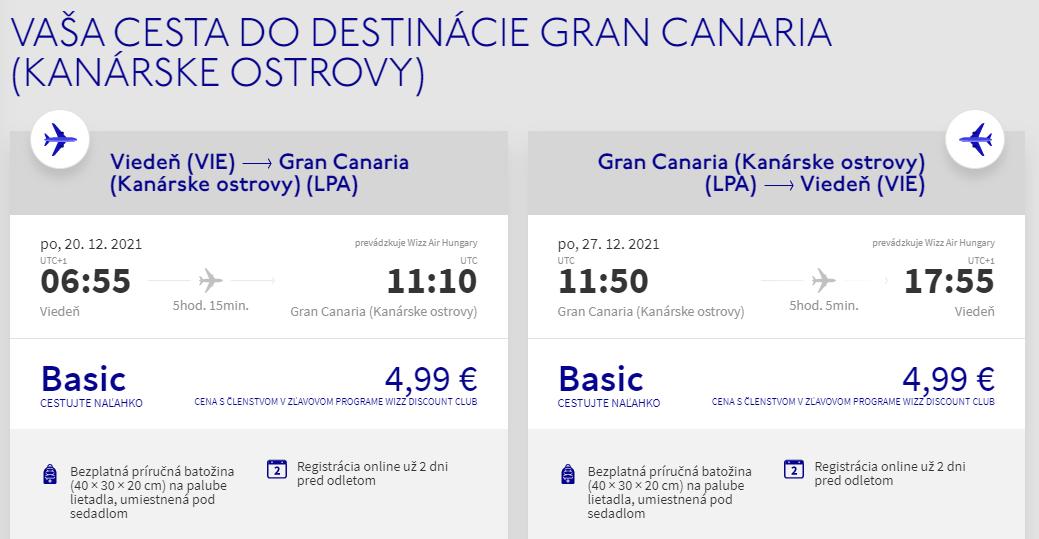 Gran Canaria nie len počas Vianoce s letenkami z Viedne od 10 eur