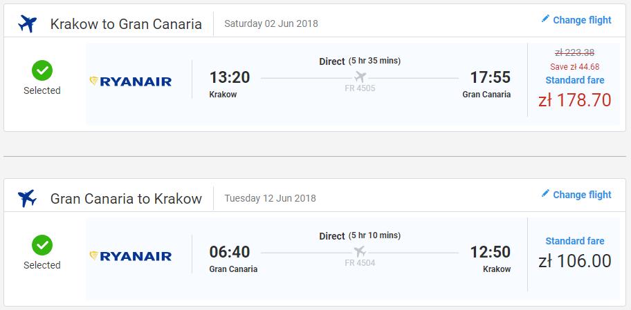 Gran Canaria z Krakova počas júna od 66 eur