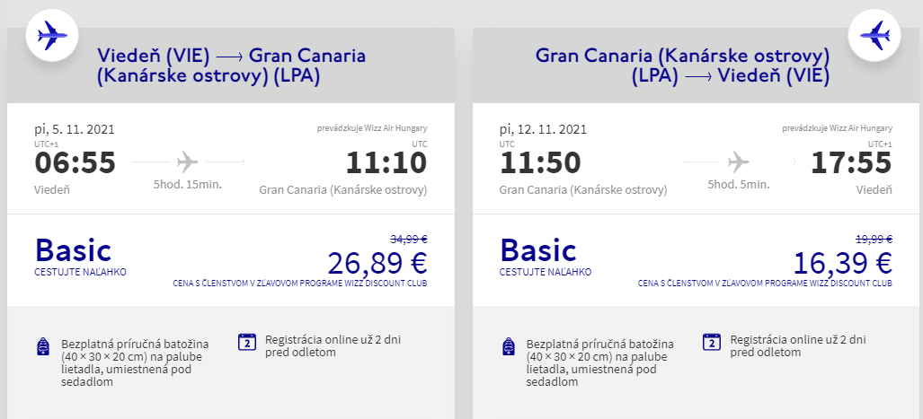 Gran Canaria z Viedne s letenkami od 43 eur