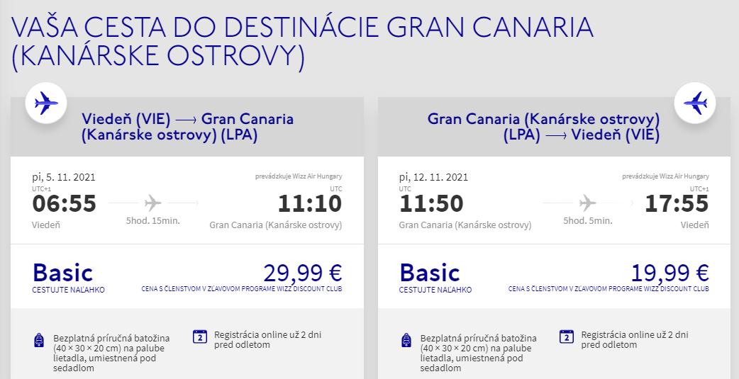 Gran Canaria z Viedne s letenkami od 50 eur