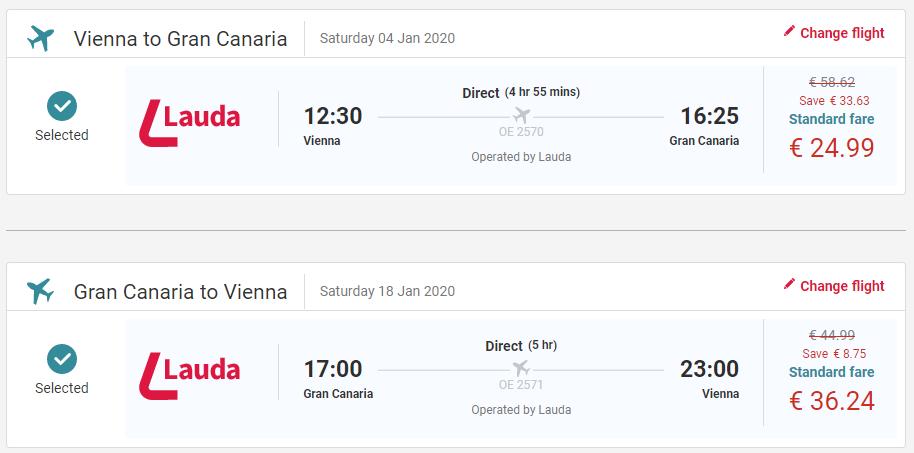 Gran Canaria z Viedne s letenkami od 61 eur