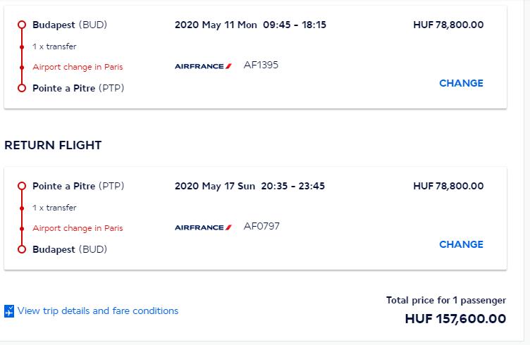 Guadeloupe z Budapešti s letenkami od 467 eur
