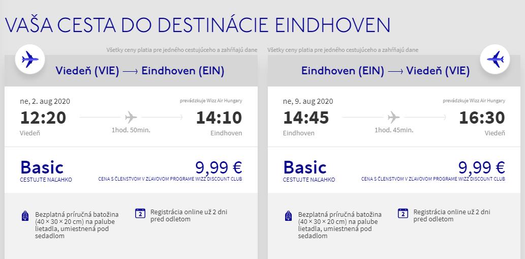 HOLANDSKO - Eindhoven z Viedne cez letné prázdniny od 2o eur