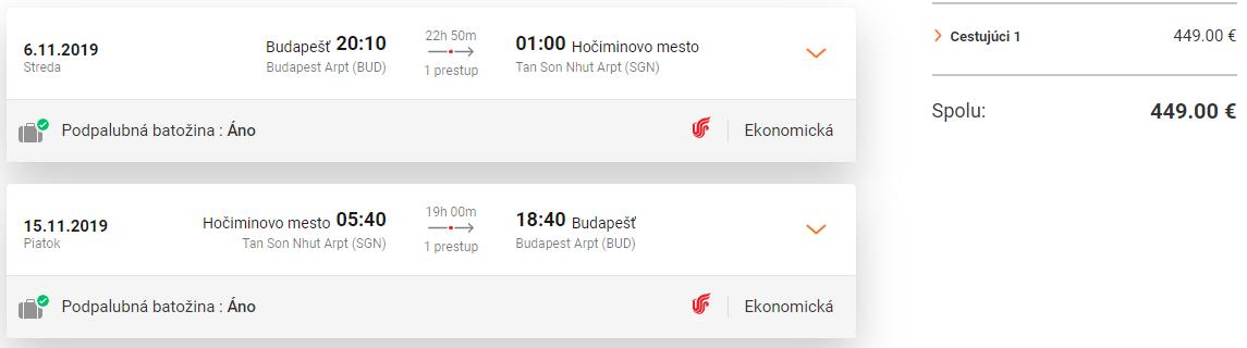 Hanoi a Hočiminovo Mesto z Budapešti s letenkami od 449 eur