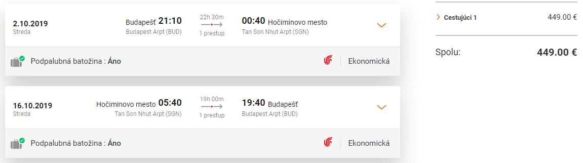 Hanoi a Hočiminovo Mesto z Budapešti s letenkami od 449 euro
