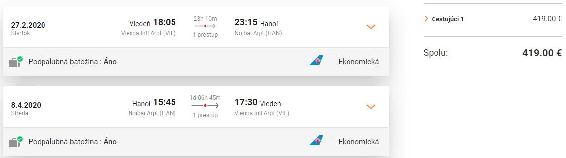 Hanoj z Viedne s letenkami od 419 eur