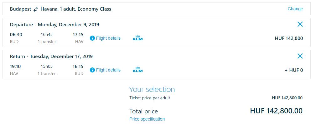 Havana z Budapešti s letenkami od 440 eur
