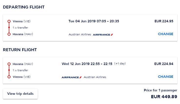 Havana z Viedne s Air France. Spiatočné letenky už od 450 eur