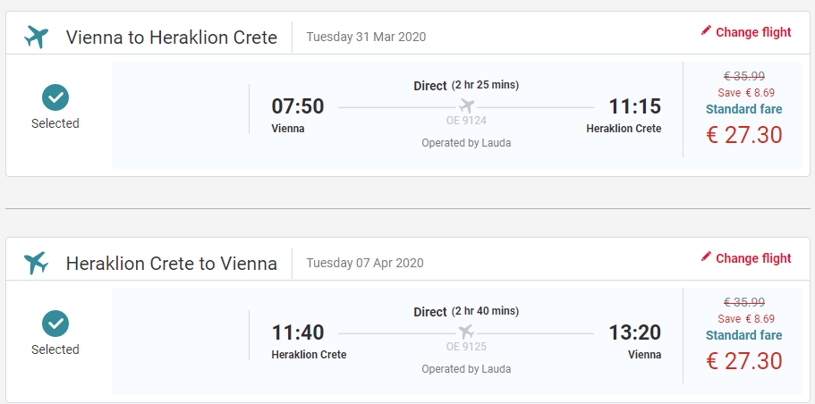 Heraklion z Viedne začiatkom jari s letenkami od 55 eur