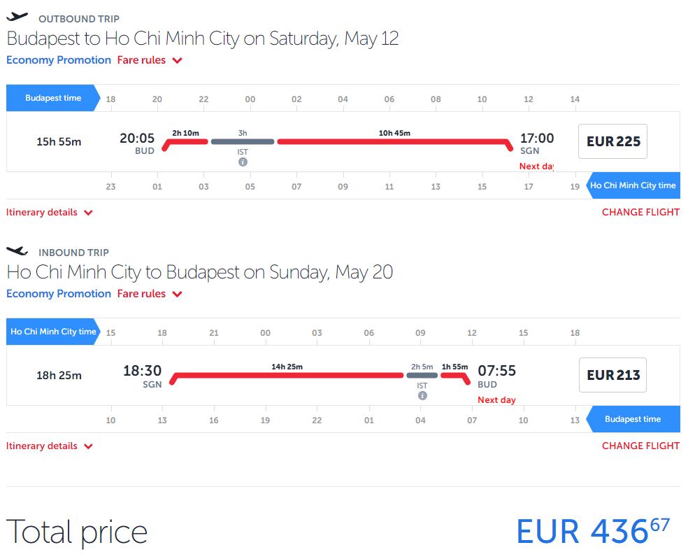 Hočiminovo Mesto z Budapešti s letenkami od 437 eur