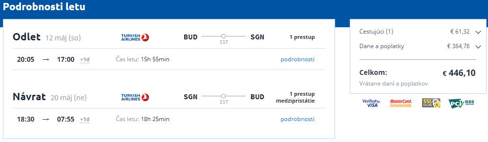 Hočiminovo Mesto z Budapešti s letenkami od 446 eur