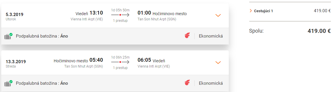 Hočiminovo Mesto z Viedne od 419 eur