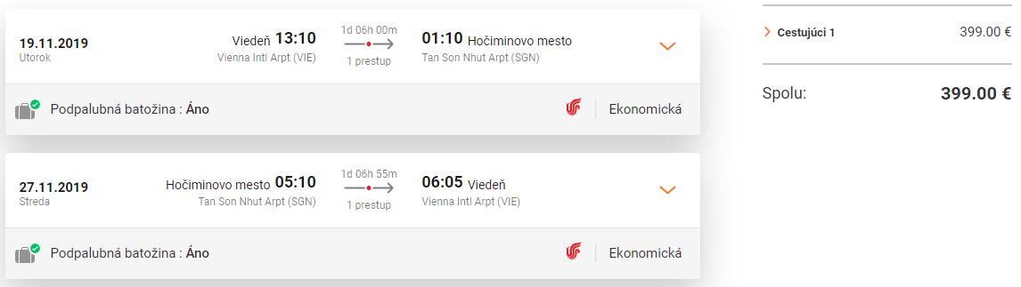 Hočiminovo Mesto z Viedne s letenkami od 399 eur
