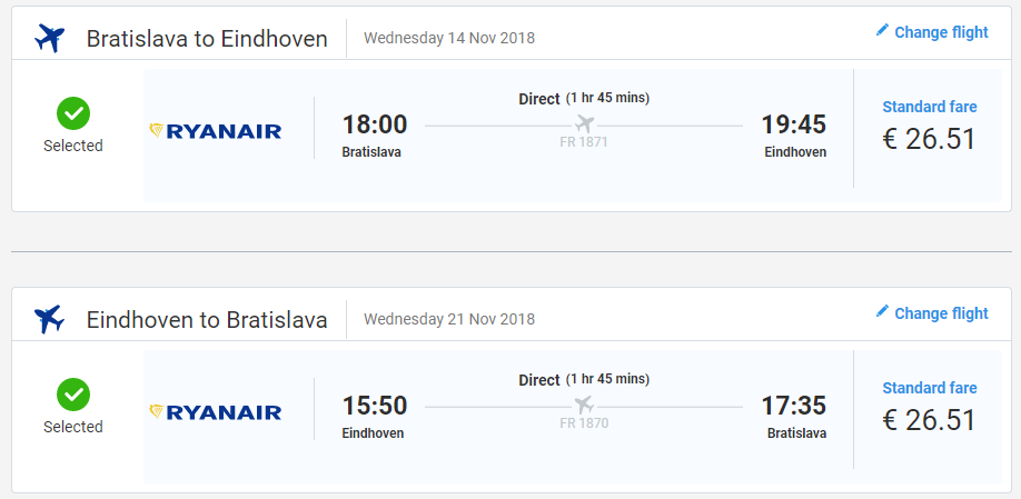 Holandský Eindhoven s novou linkou z Bratislavy od 53 eur