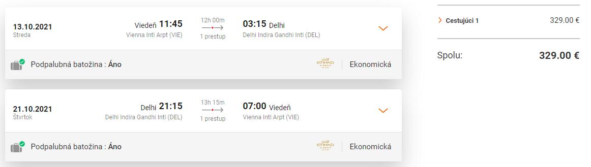 INDIA - Dillí z Viedne s letenkami od 329 eur