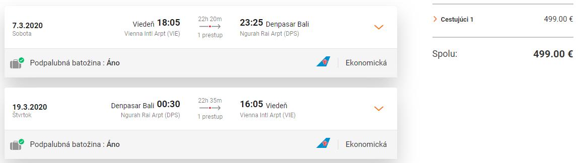 INDONÉZIA - Bali z Viedne s letenkami od 499 eur