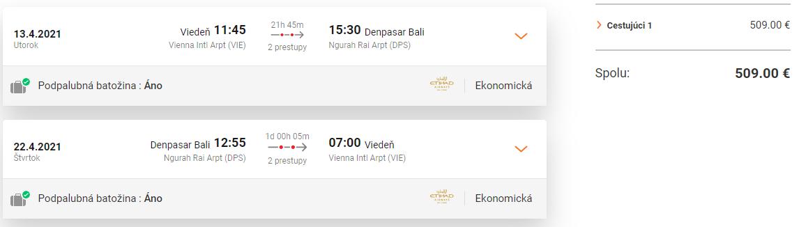 INDONÉZIA - Bali z Viedne s letenkami od 509 eur