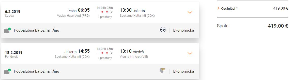 INDONÉZIA - Jakarta s multi-city letenkami od 419 eur