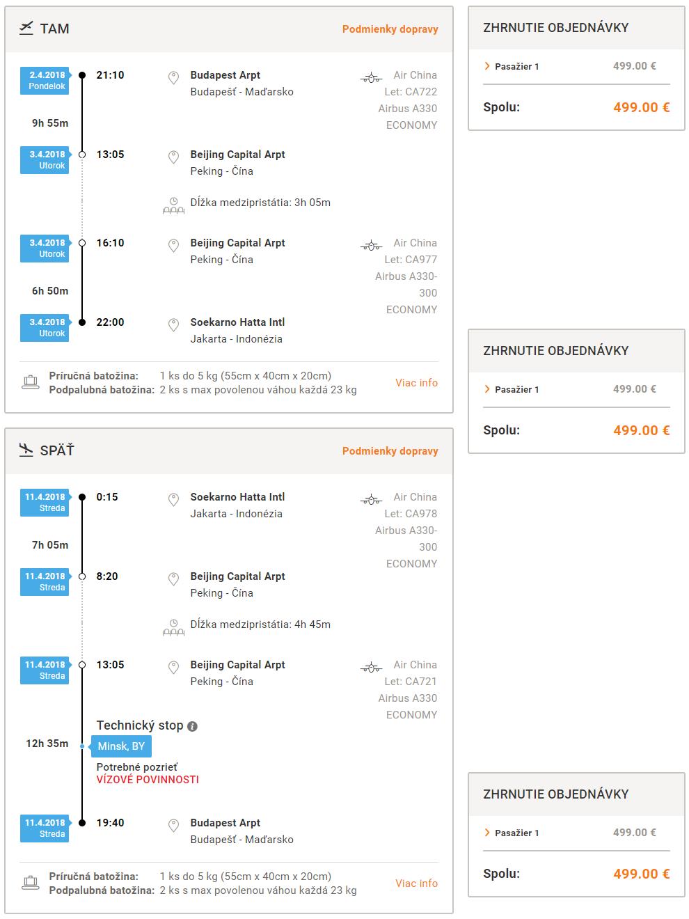 INDONÉZIA - Jakarta z Budapešti s letenkami od 499 eur