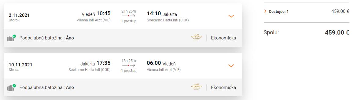 INDONÉZIA - Jakarta z Viedne s letenkami od 459 eur