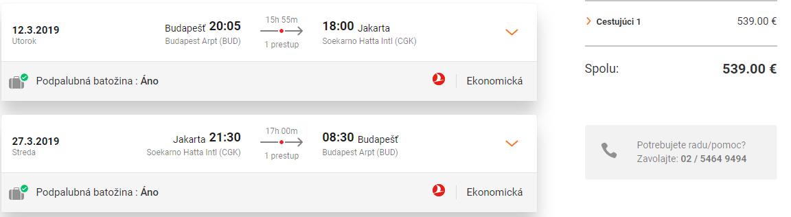 INDONÉZIA S TURKISH AIRLINES- Jakarta z Budapešti s letenkami od 539 eur
