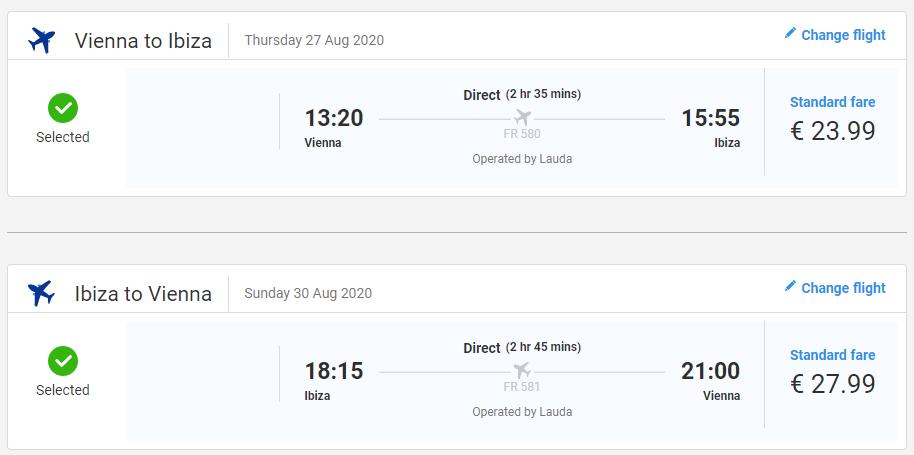 Ibiza z Viedne koncom leta s letenkami od 52 eur