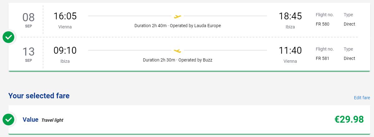 Ibiza začiatkom septembra. Spiatočné letenky z Viedne od 30 eur