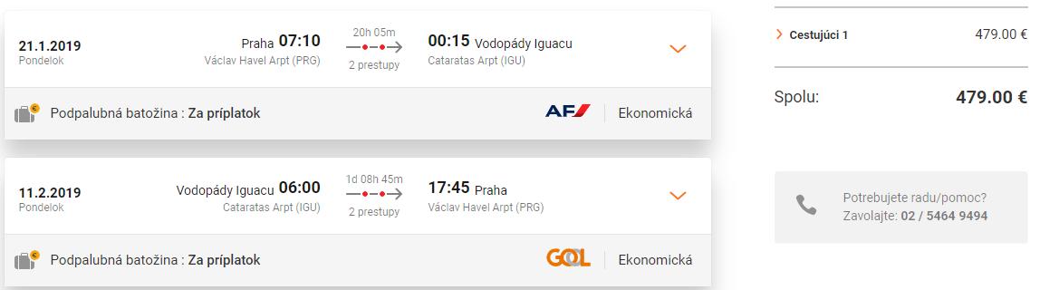 Iguassu Falls z Prahy s letenkami od 479 eur