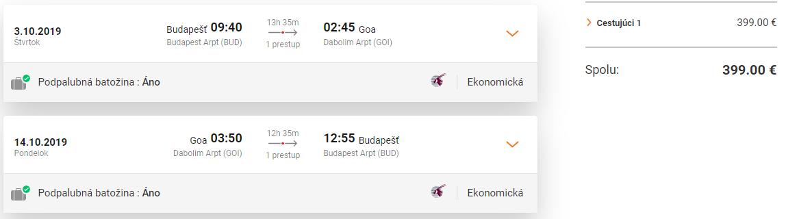 Indická Goa z Budapešti s Qatar Airways od 399 eur