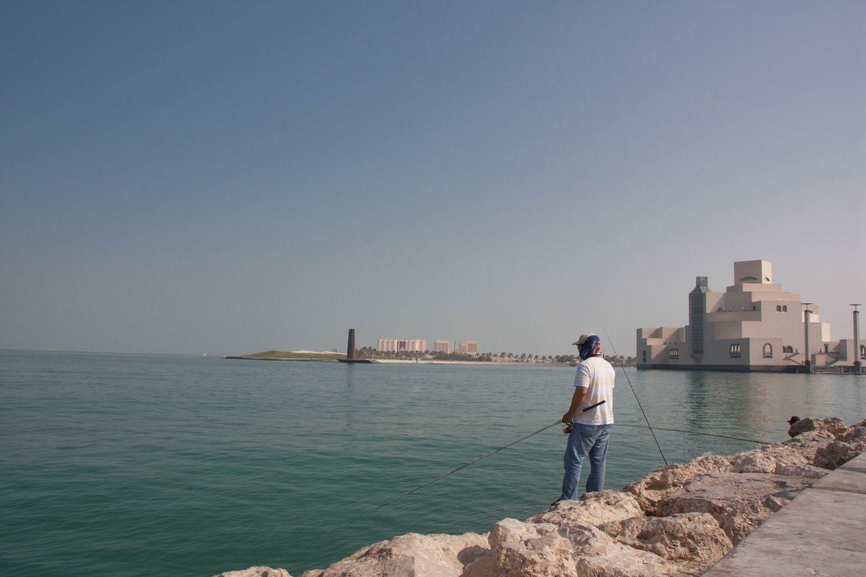 Prvá zastávka je v zálive neďaleko Múzea Islamského umenia