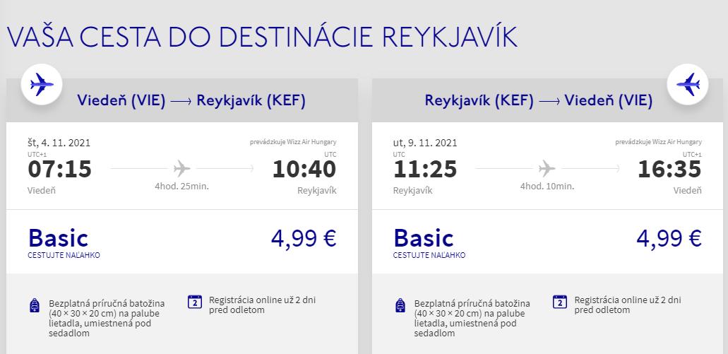 Island v jesenných termínoch s letenkami z Viedne od 10 eur
