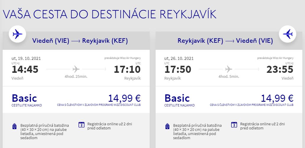 Island v jesenných termínoch s letenkami z Viedne od 30 eur