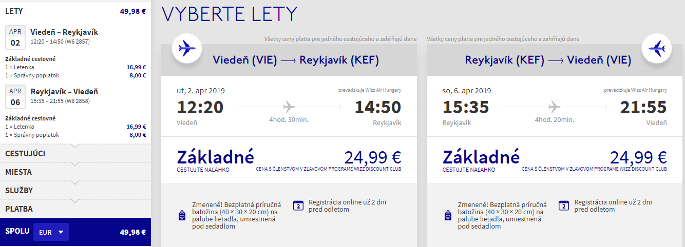 Island z Viedne v jarných termínoch s letenkami od 50 eur
