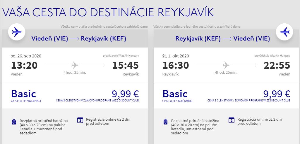 Island z Viedne začiatkom jesene s letenkami od 20 eur