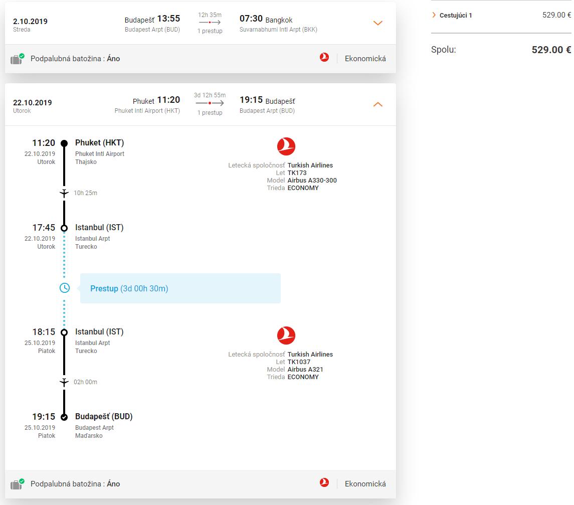 Istanbul, Bangkok a Phuket v rámci jednej cesty s Turkish Airlines od 529 eur