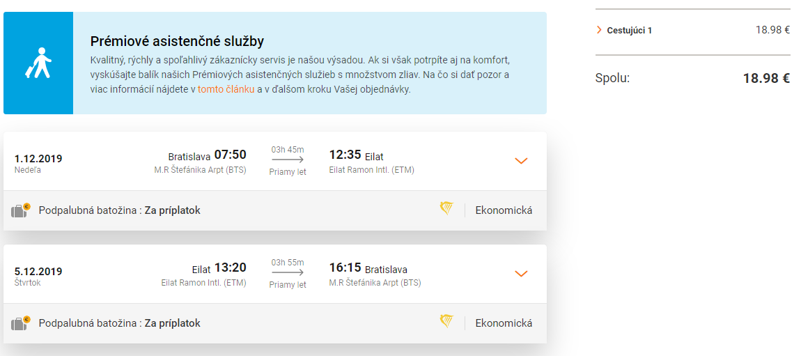 Izraelský Eilat z Bratislavy koncom roka s letenkami od 19 eur