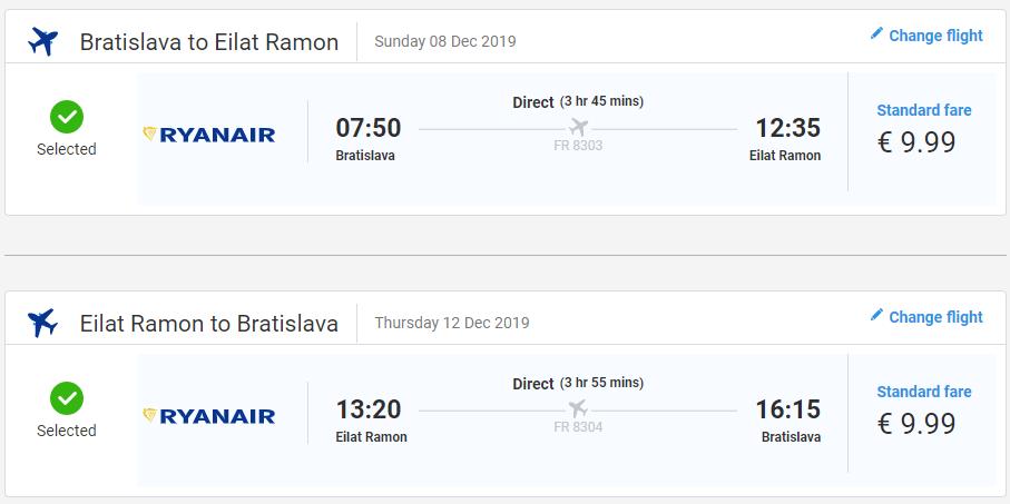 Izraelský Eilat z Bratislavy koncom roka s letenkami od 20 eur