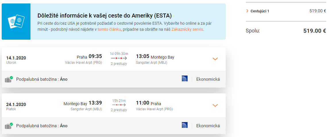 JAMAJKA - Montego Bay z Prahy s letenkami od 519 eur