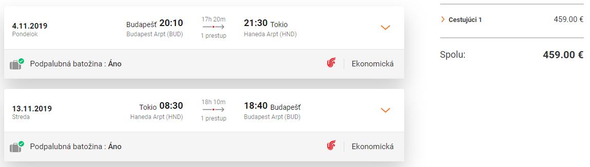 JAPONSKO - Tokio z Budapešti s letenkami od 459 eur