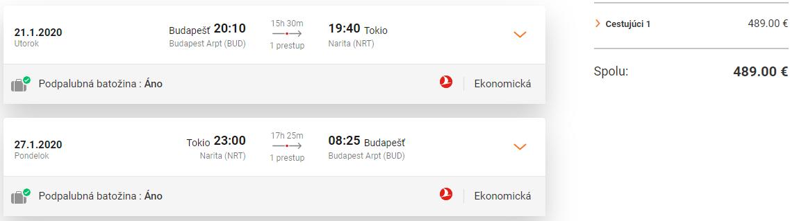 JAPONSKO S TURKISH AIRLINES - Tokio z Budapešti s letenkami od 489 eur
