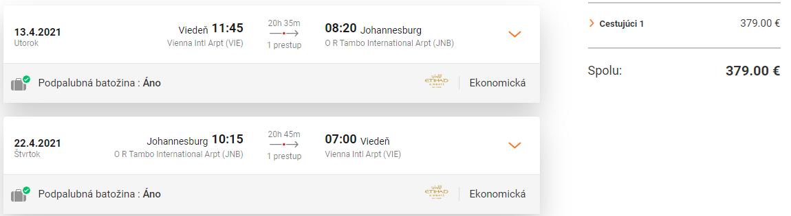 JUHOAFRICKÁ REPUBLIKA - Johannesburg z Viedne s letenkami od 379 eur