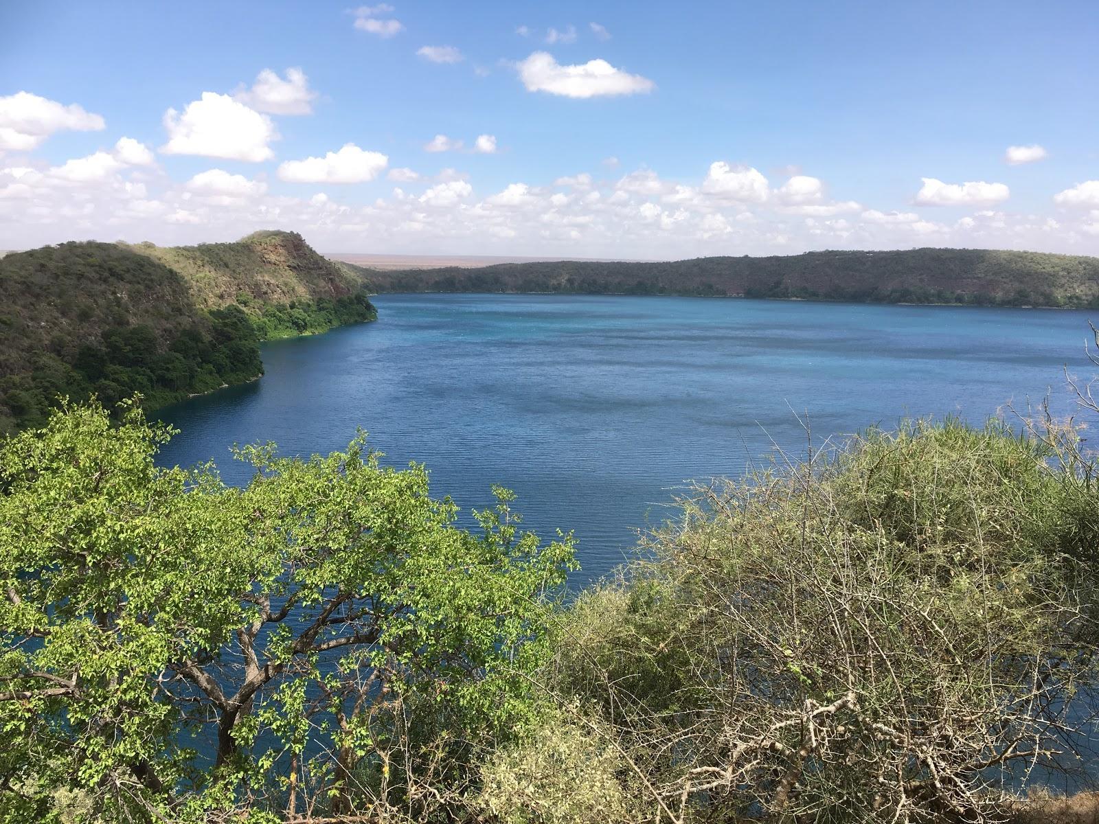 Jazero Chala, výhľad na Keňu