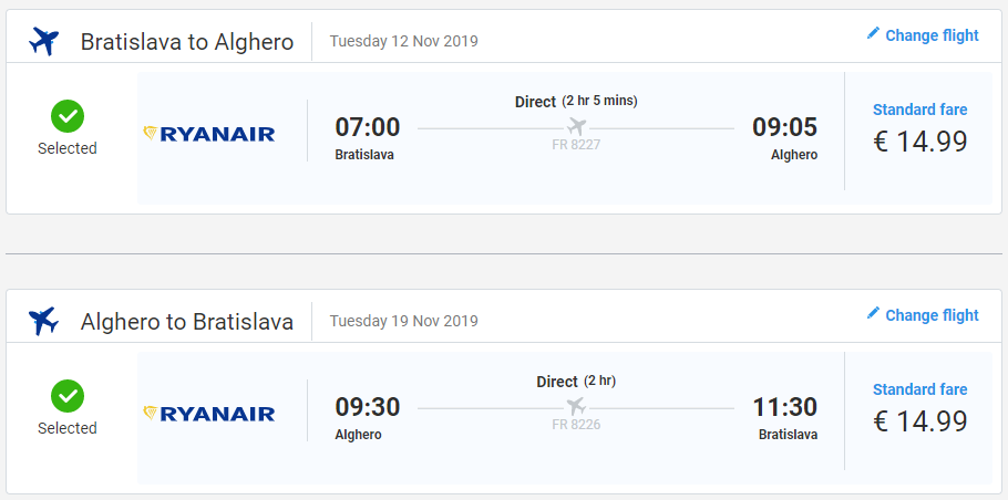 Jeseň na Sardínii. Alghero z Bratislavy s letenkami od 30 eur
