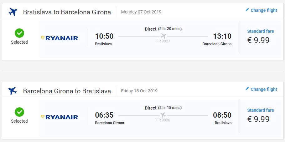 Jesenná Costa Brava. Girona z Bratislavy s letenkami od 20 eur