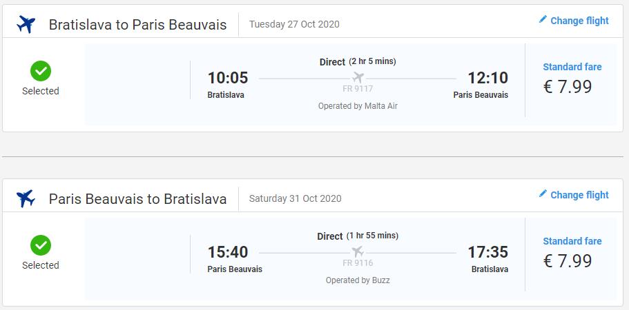 Jesenný Paríž z Bratislavy s letenkami od 16 eur
