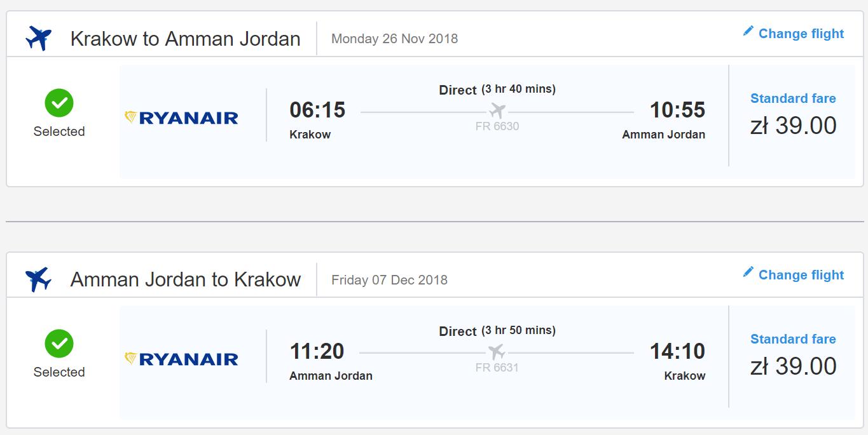 Jordánsky Ammán s letenkami z Krakova už od 18 eur