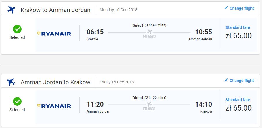 Jordánsky Ammán s letenkami z Krakova už od 30 eur