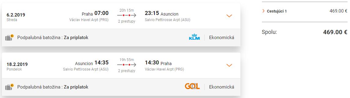Juhoamerický Paraguaj s odletom z Prahy od 469 eur