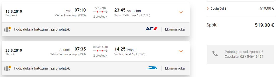 Juhoamerický Paraguaj s odletom z Prahy od 519 eur