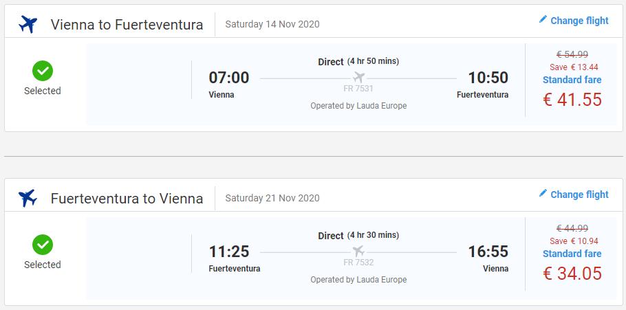 KANÁRSKE OSTROVY - Fuerteventura z Viedne s letenkami od 76 eur